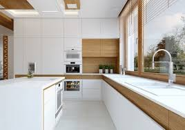 White modern kitchen ideas 2018 White Kitchen Oak Wood Accents White Kitchen Island Modern Angels4peacecom Modern Oak Kitchen Designs Trendy Wood Finish In The Kitchen
