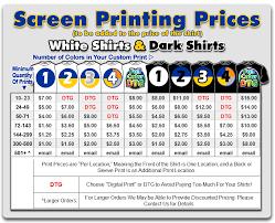 7 Best Photos Of T Shirt Screenprint Price List T Shirt
