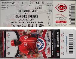 Opening Day Ticket Stubs Findlay Market Parade