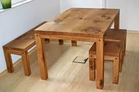 Sitzgruppe Tisch 2x Bank Bänke Esstisch Esszimmergruppe Ke876 Weiss