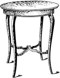 coffee table clipart black and white. parlor table | clipart etc coffee clipart black and white c