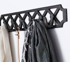 Row Of Hooks Coat Rack Finley Lattice Vertical Row of Hooks Bronze finish Mud rooms 50
