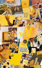 Yellow aesthetic collage made ...