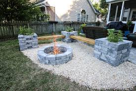 our hardscape benches fire pit with