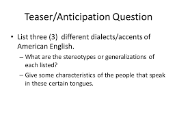 "mother tongue"" by amy tan teaser anticipation question list three  mother tongue by amy tan 2 teaser anticipation"