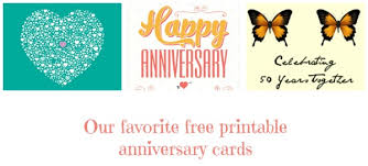 Printable Free Anniversary Cards Anniversary Cards To Print Post On Facebook