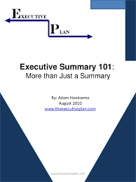 executive summary format for project report   pacq co