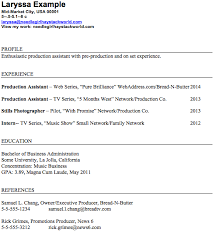 Production Assistant Resume Best 846 Production Assistant Resume Format