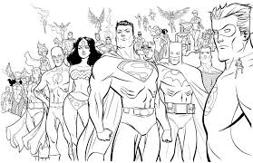 Small Picture superhero coloring pages