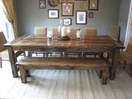 Rustic Kitchen Table Set Kitchen Table With Bench Rustic Dining Tables Benches Love This