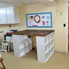DIY Inexpensive Craft Table with Storage | Project table, Diy furniture  plans and DIY furniture