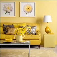yellow living room walls