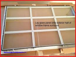 garage door window frame replacement how to replace a glass frame in an exterior door how to caulk a window pane