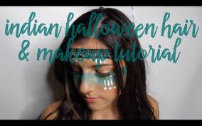 tribal indian halloween hair makeup tutorial y vlog you