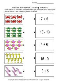 Addition, Subtraction, Counting - Brain Teaser Worksheets # 4