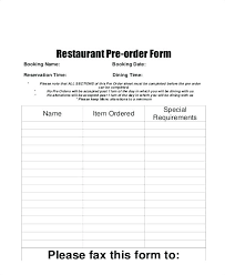 Restaurant Party Reservation Form Sheet Template Booking – Davidpowers