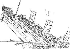 Small Picture Titanic Half Sinking into the Ocean Coloring Pages Batch Coloring
