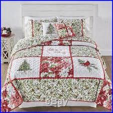 Christmas Quilt Set Full Queen Bedding Bedspread Decorative Pillow ... & Christmas Quilt Set Full Queen Bedding Bedspread Decorative Pillow Shams  Holiday Adamdwight.com