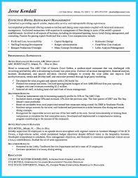 Restaurant Manager Job Resume Restaurant Manager Resume Template