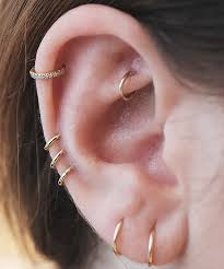 Nyc Piercing Trends Cool Earring Combinations Photos