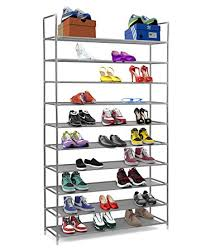 Home Basics 10 Tier Coated Non Woven Shoe Rack Amazon Halter 100 Tier Stainless Steel Shoe Rack Shoe Storage 58
