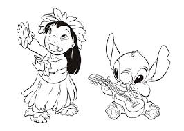 Small Picture Amazing Lilo And Stitch Coloring Pages 58 With Additional Free