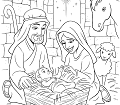 Stunning Nativity Coloring Pages Jesus And Page Catholic Crafts