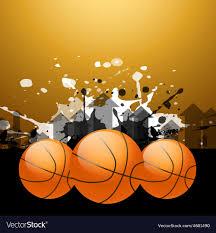 stylish basketball background vector image