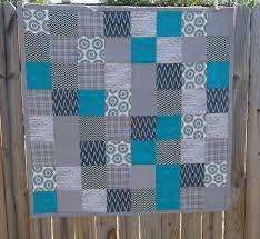 Blue Grey Baby Quilt Modern Baby Quilt Modern by TakeTwoBabyQuilts ... & Blue Grey Baby Quilt Modern Baby Quilt Modern by TakeTwoBabyQuilts, $48.00 Adamdwight.com