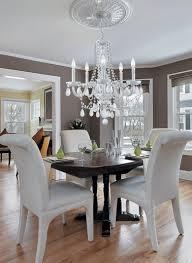 crystal dining room chandeliers. Modern Crystal Dining Room Chandeliers With White Chairs S