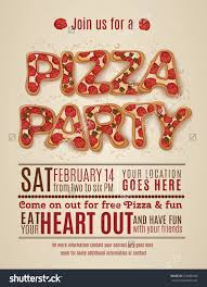 vector pizza party flyer invitation template stock vector vector pizza party flyer invitation template design