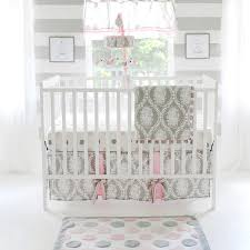 pink and grey crib bedding pink and gray baby bedding pink and gray crib bedding