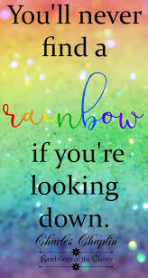 Look Up Believe You Are Strong N Beautiful Rainbow Quote