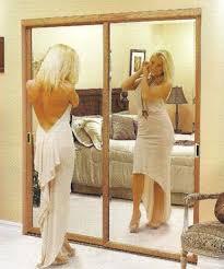 mirrored sliding closet doors