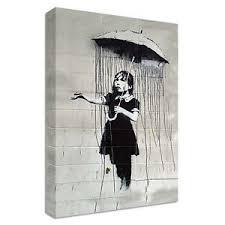 image is loading banksy girl with umbrella canvas large wall art  on girl with umbrella wall art with banksy girl with umbrella canvas large wall art street graffiti