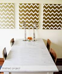 d i y chevron wall art use a poster board instead masking tape a light ish spray paint on poster board wall art with diy chevron art poster boards chevron art and masking tape