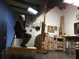 painting studio lighting. I Use A So-called Soft Box Which Happen To Have In My Photography  Equipment. Replace The Flash Unit That Actually Belongs It With An Ordinary Bright Painting Studio Lighting G
