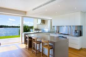 guest house kitchen. Guest House Kitchen Contemporary With Counter Stools Vented Wall Mount Range Hoods