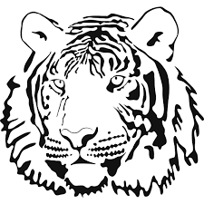 Tiger Face Coloring Page | Coloring Books/sheets, accessories and ...