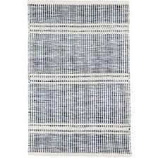 Striped area rug Crate Malta Blue Woven Wool Rug Annie Selke Stripe Rugs Area Rugs Runners Carpets Dash Albert