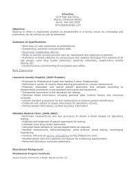 sample resume objective for nursing student cv templates sample resume objective for nursing student nursing resume best sample resume phlebotomist resume sample 622