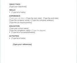 Basic Resumes Templates Simple Modern Resume Template Spacesheep Co