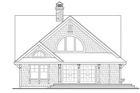 country house plan cedar view 50 012 left elevation