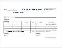 Bill Template Advance Cash Receipt Template At Receipts Templates Com Microsoft