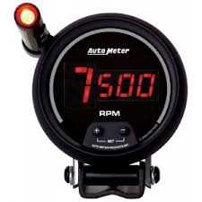 tachometers gauges car truck parts auto meter 6399 3 3 4in dg b in dash tachometer