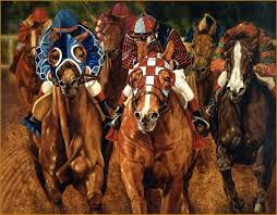 horse race portrait painting equine art equestrian sports oil portrait painting power in the
