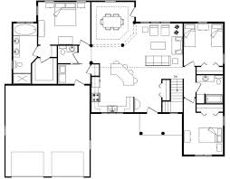 gorgeous open floor house plans modern style architecture design