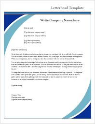 Letterhead Sample Word Letterhead Template Microsoft Word Templates