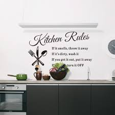 Small Picture Aliexpresscom Buy DIY Kitchen Rules Wall Stickers Removable