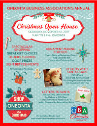christmas open house flyer christmas open house oneonta business association